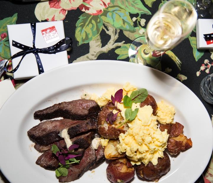 Steak + Scrambled Eggs with Crispy Potatoes